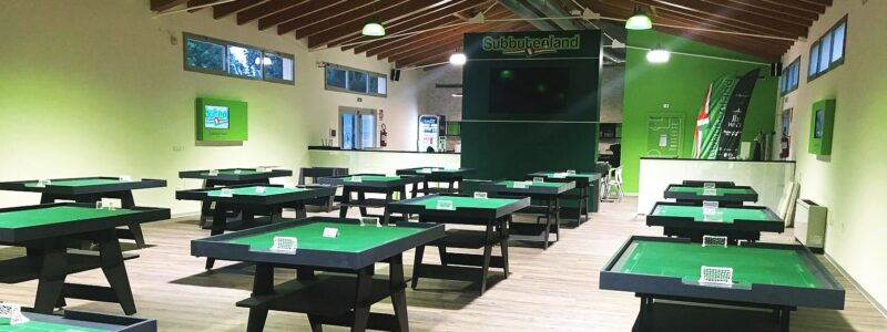 Stunning venue launched for sports table football