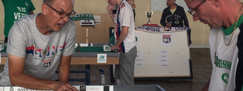 French club Saint-Symphorien-sur-Coise stages innovative 'derby'.